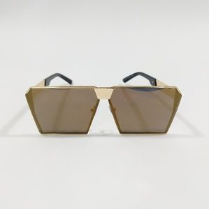 Accessories - Retro Gold Sunglasses